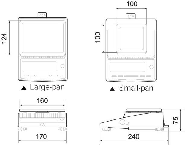 Kích thước cân phân tích CBL