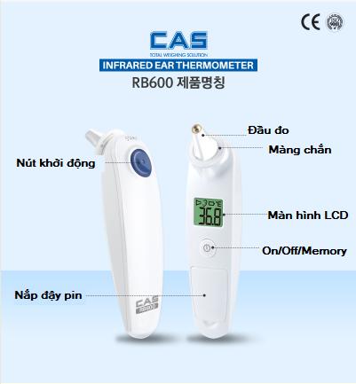 Nhiệt kế đo tai RB600