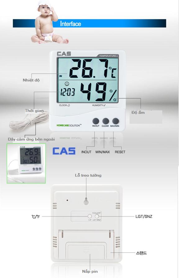Máy đo nhiệt độ phòng TE-201