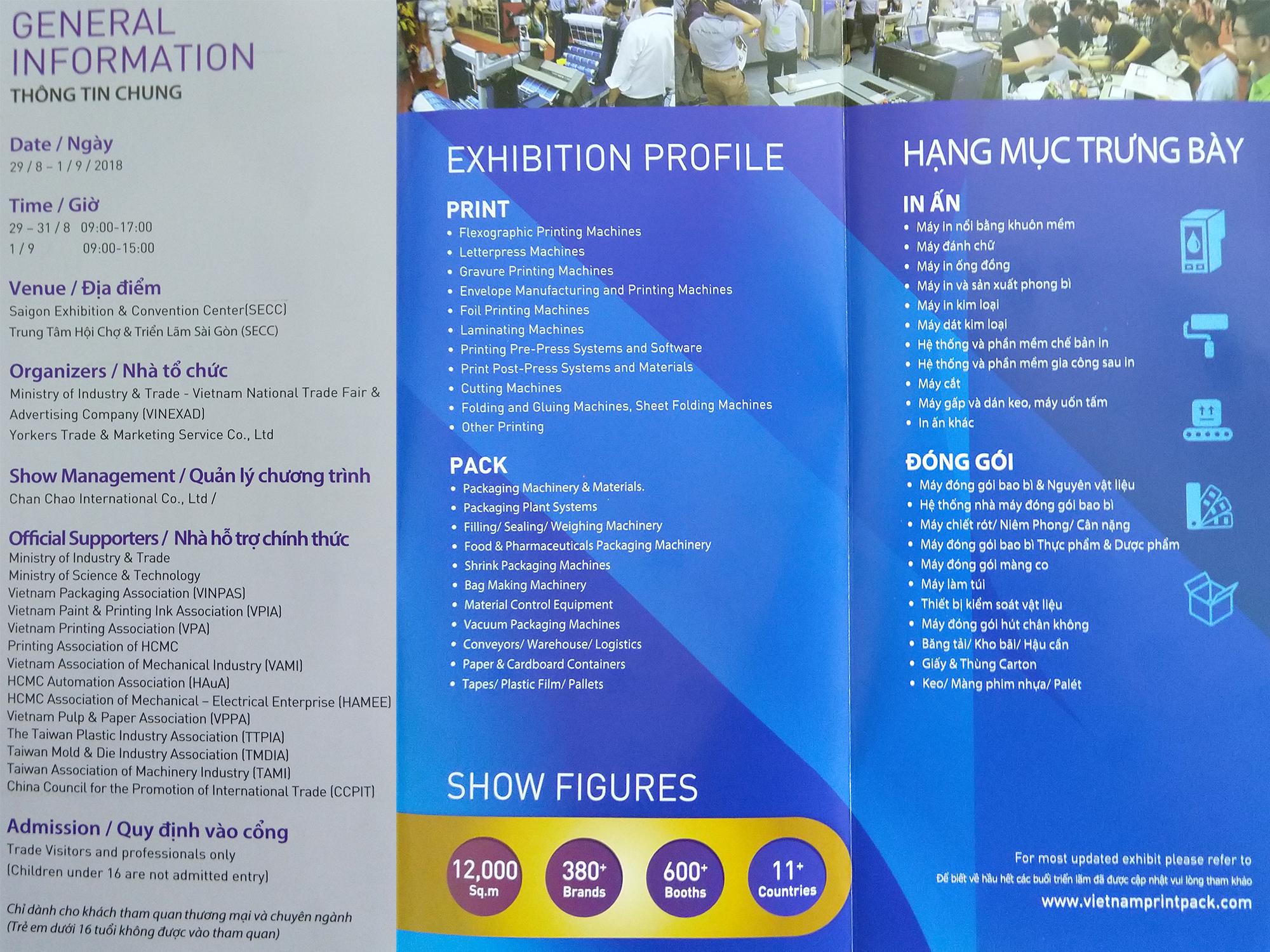 Triển lãm quốc tế lần thứ 18 về máy móc thiết bị công nghiệp ngành In Ấn & Đóng Gói Bao Bì